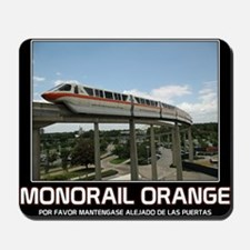 monorail ORANGE poster copy Mousepad