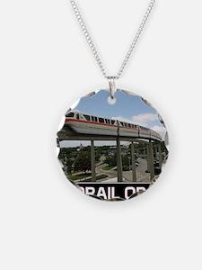 monorail ORANGE poster copy Necklace