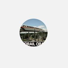 monorail ORANGE poster copy Mini Button