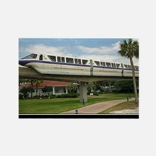 monorail PURPLE poster copy Rectangle Magnet