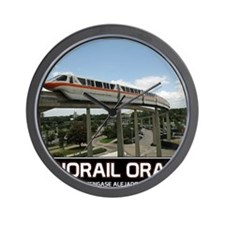 monorail ORANGE poster copy Wall Clock