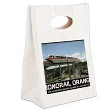 monorail ORANGE poster copy Canvas Lunch Tote