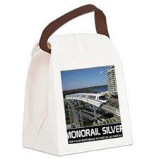 monorail SILVER poster copy Canvas Lunch Bag