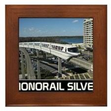 monorail SILVER poster copy Framed Tile