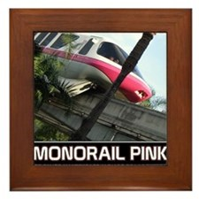 monorail PINK poster copy Framed Tile