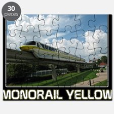 monorail YELLOW poster copy Puzzle