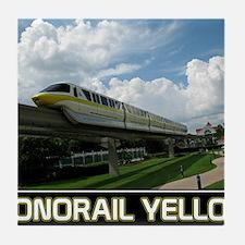 monorail YELLOW poster copy Tile Coaster