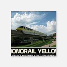 "monorail YELLOW poster copy Square Sticker 3"" x 3"""