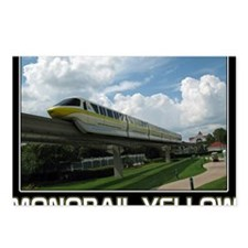 monorail YELLOW poster co Postcards (Package of 8)