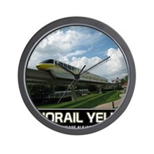 monorail YELLOW poster copy Wall Clock
