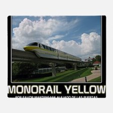 monorail YELLOW poster copy Throw Blanket