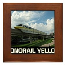 monorail YELLOW poster copy Framed Tile