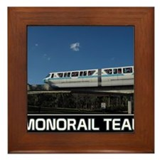 monorail TEAL poster copy Framed Tile
