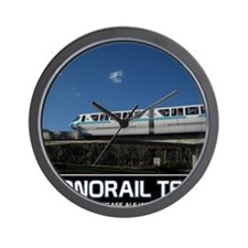 monorail TEAL poster copy Wall Clock