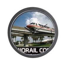 monorail CORAL poster copy Wall Clock