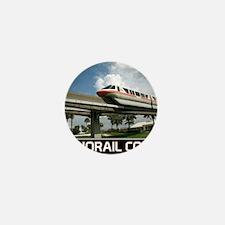 monorail CORAL poster copy Mini Button