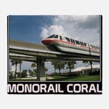 monorail CORAL poster copy Throw Blanket