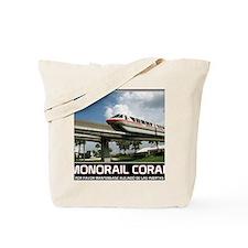 monorail CORAL poster copy Tote Bag