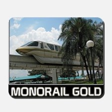 monorail gold poster copy Mousepad