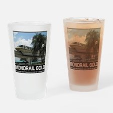 monorail gold poster copy Drinking Glass