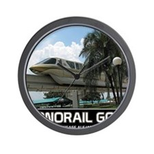 monorail gold poster copy Wall Clock