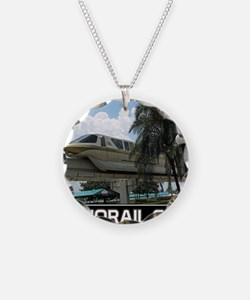monorail gold poster copy Necklace