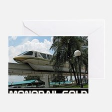 monorail gold poster copy Greeting Card