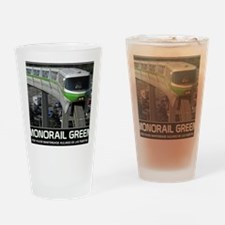 monorail gREEN poster copy Drinking Glass