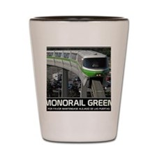 monorail gREEN poster copy Shot Glass