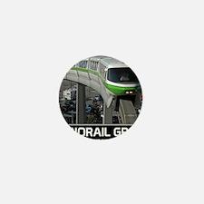 monorail gREEN poster copy Mini Button
