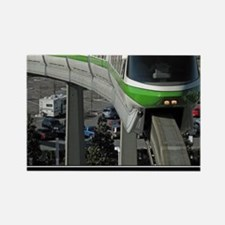 monorail gREEN poster copy Rectangle Magnet
