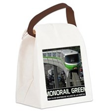 monorail gREEN poster copy Canvas Lunch Bag