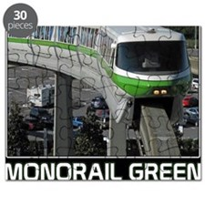 monorail gREEN poster copy Puzzle