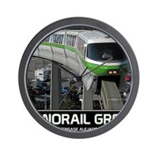 monorail gREEN poster copy Wall Clock
