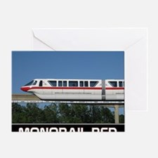 monorail RED poster copy Greeting Card