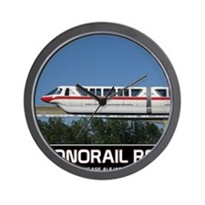 monorail RED poster copy Wall Clock