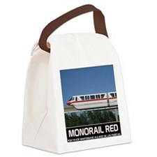 monorail RED poster copy Canvas Lunch Bag