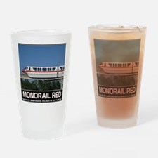 monorail RED poster copy Drinking Glass