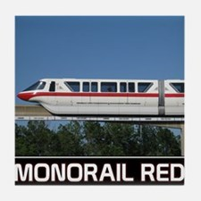 monorail RED poster copy Tile Coaster