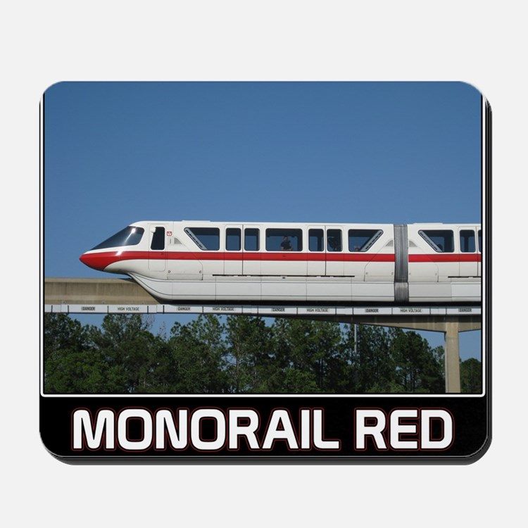 monorail RED poster copy Mousepad