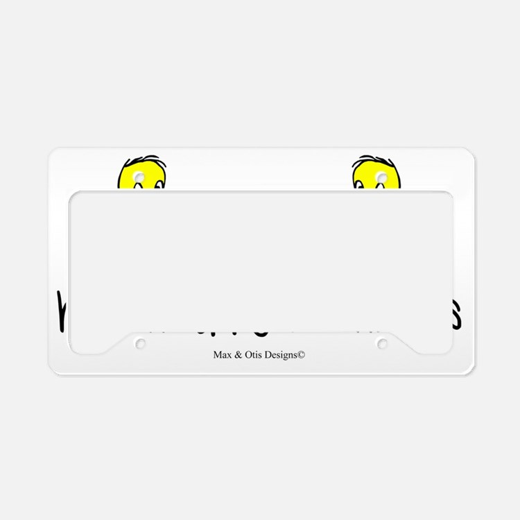 hatched-by-two-chicks License Plate Holder
