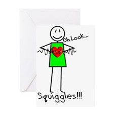 Stick Oh look Squiggles Greeting Card