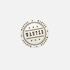 logo wanted Mini Button