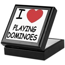 PLAYING_DOMINOES Keepsake Box