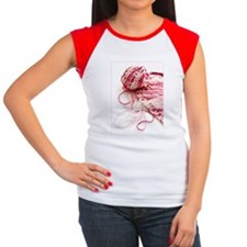 pinkKnitting_5x7 Women's Cap Sleeve T-Shirt