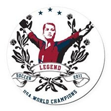 Hope Solo American Legend 2011 Round Car Magnet