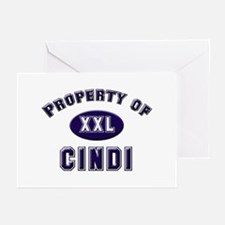 Property of cindi Greeting Cards (Pk of 10)