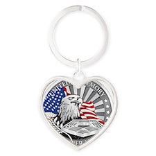 911 Heart Keychain
