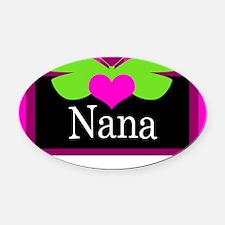 Nana Butterfly Oval Car Magnet