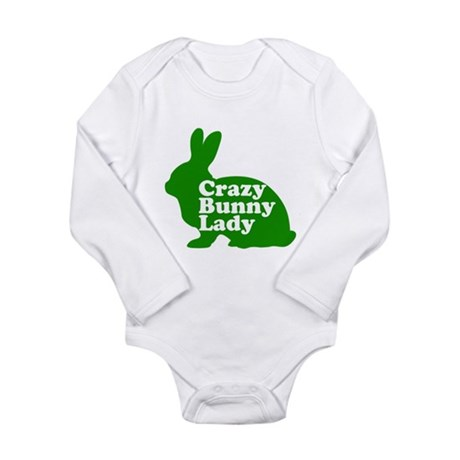 Crazy Bunny Lady Long Sleeve Infant Bodysuit